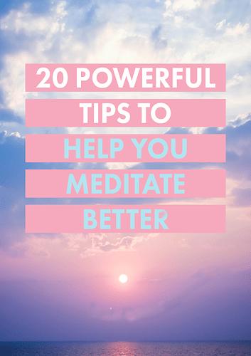 Tip to Meditate