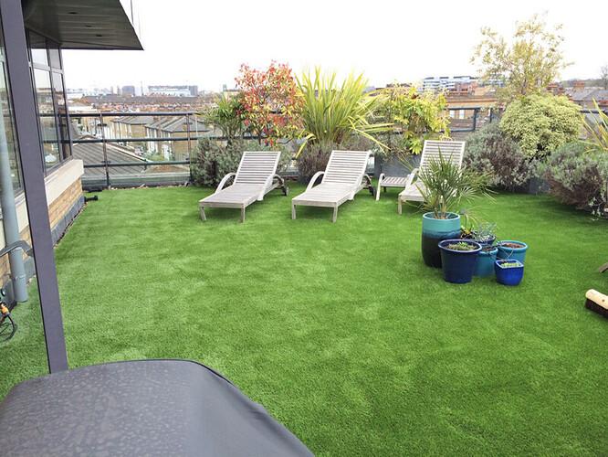 terrace artificial grasss