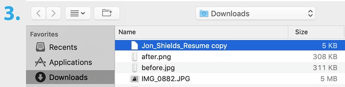 Upload Resume to LinkedIn - Select your resume
