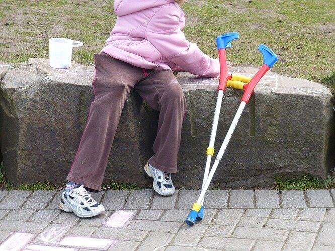 A handicap child