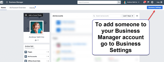 Add an Admin in Facebook Business Manager