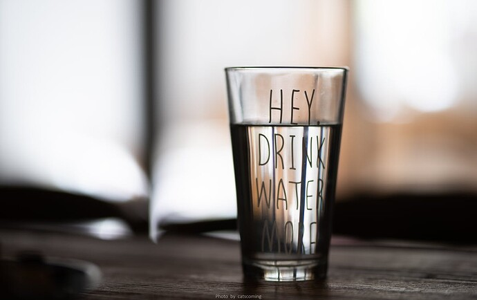 A glass full of water