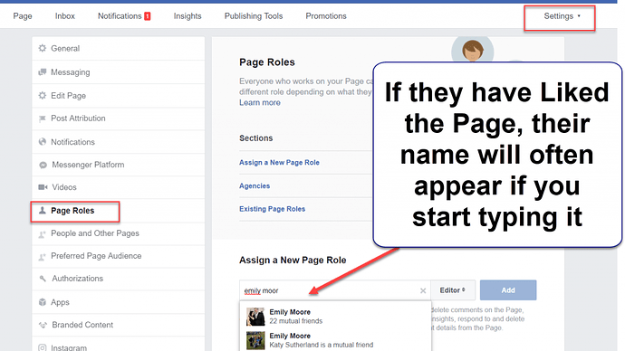 Adding an Admin to your Facebook Page