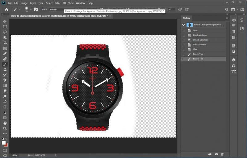 How to Change Background Color in Photoshop using Object Selection tool - step 8