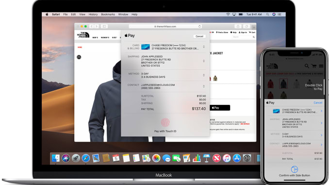 Apple Pay on Mac.