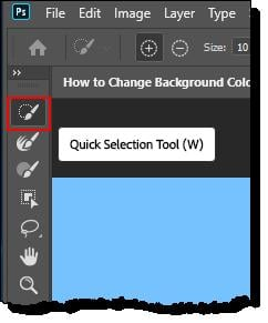 How to Change Background Color in Photoshop - Step - 3 - 2