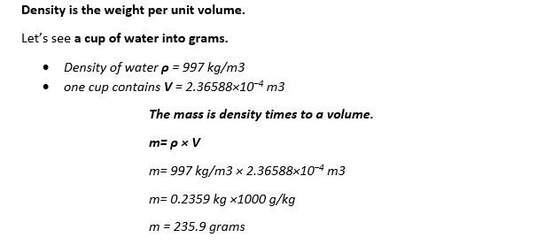 mass-density formula