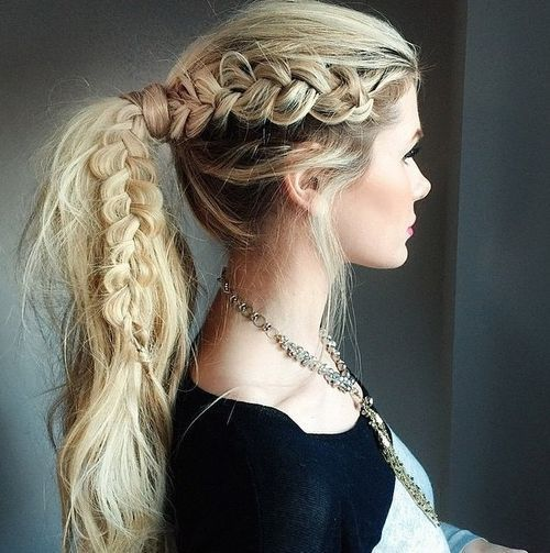 14-messy-pony-with-a-lacy-side-braid