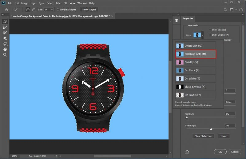 How to Change Background Color in Photoshop - Step - 5 - 1