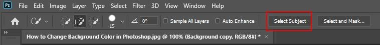 How to Change Background Color in Photoshop - Step - 5 - 5