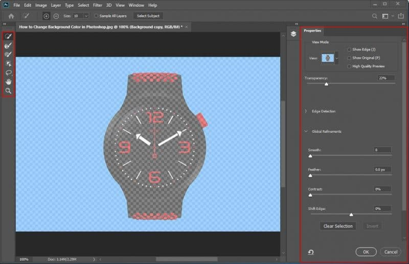 How to Change a Background Color in Photoshop - Step - 3 - 1
