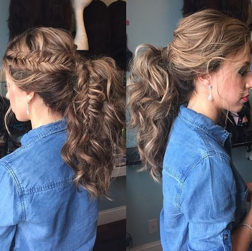 19-wavy-ponytail-with-a-side-fishtail