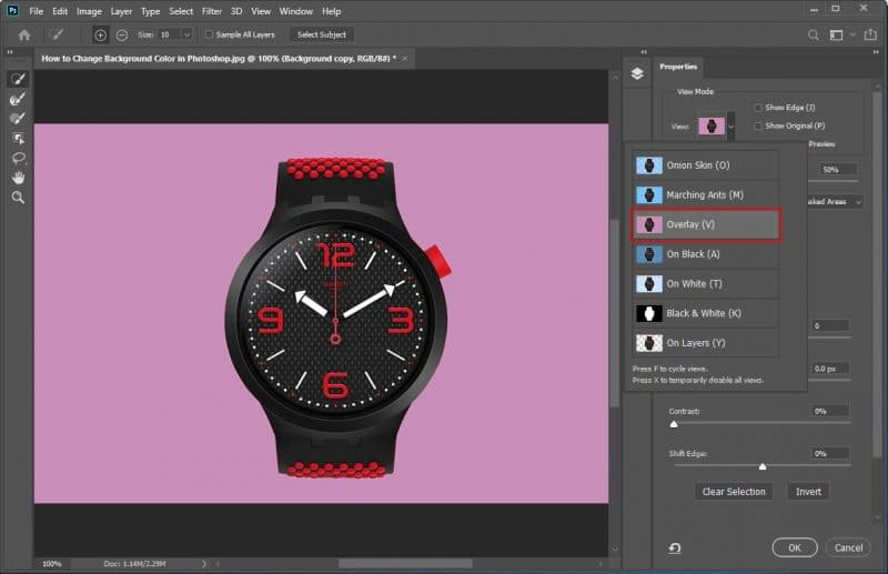 How to Change Background Color in Photoshop - Step - 5 - 2